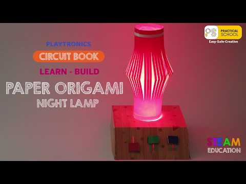 DIY Paper Circuit Kit - Origami Stem Kit for School Projects.