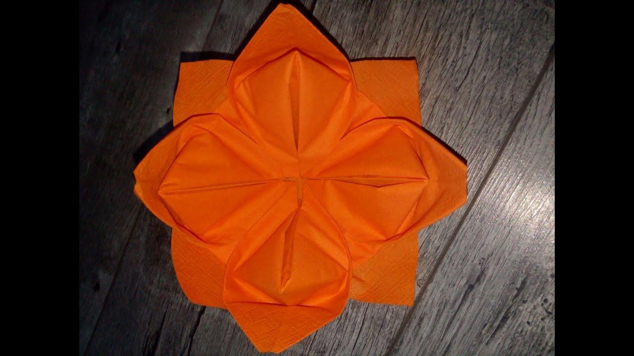 Servietten Falten Lotusblüte : die blume servietten falten einfach und sch n youtube ~ Watch28wear.com Haus und Dekorationen
