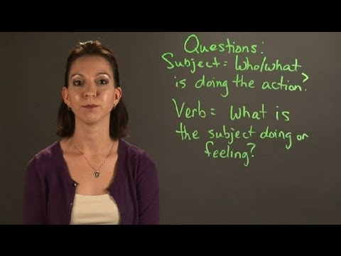Tricks for Identifying the Subject & Verbs of a Sentence : English & Grammar
