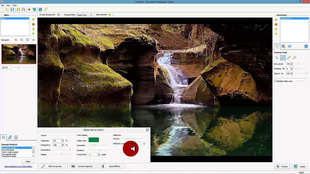 Desktop Paints Animated Wallpaper Maker Tutorial No 2 - The Stream brush - YouTube