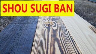 Shou Sugi Ban - Painel de Pinus