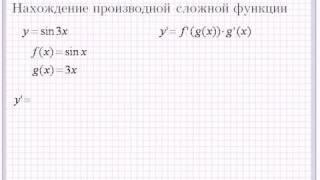 Вычисление производной сложных функций