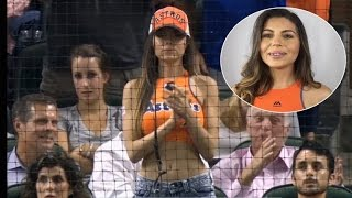Identity Of Gorgeous Model Spotted Praying During Astros Game Revealed