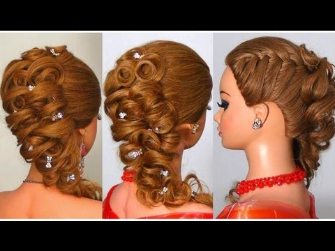 Прическа на длинные волосы. Hairstyle for long hair