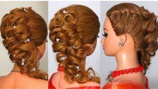 Прическа на длинные волосы. Hairstyle for long hair(, 2013-02-08T20:47:24.000Z)
