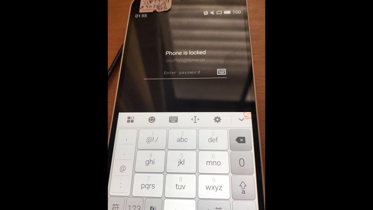Unlock flyme account verification Meizu M2 Note M571