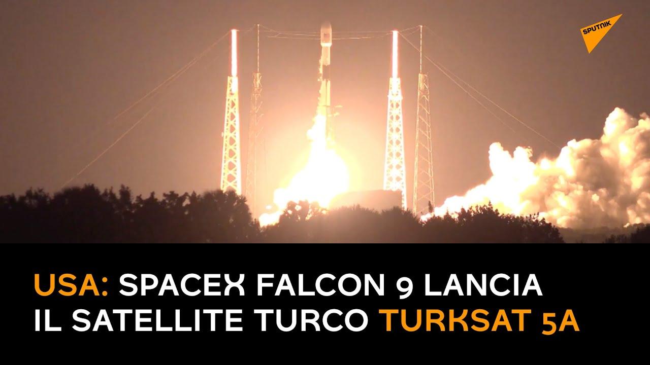 USA: SpaceX Falcon 9 lancia il satellite turco Turksat 5A