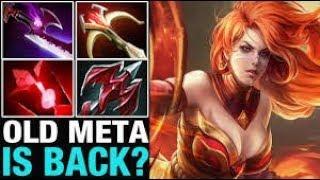 Dota 2 Lina WTF Damage Dragon Slave Epic Game 7.07