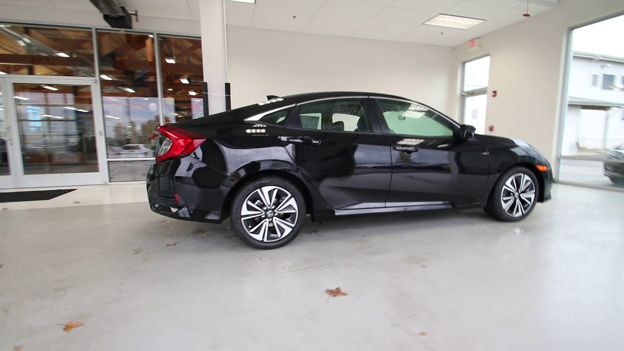 2018 honda civic ex t crystal black pearl jh640151 for All black honda civic