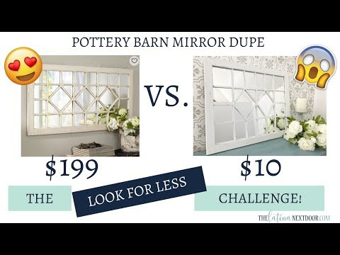 Look for Less Challenge July 2018 -  Pottery Barn Dupe