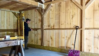 Well I've Never Done IT Like this BEFORE. Prepping The Post & Beam Barn for Spray Foam Insulation