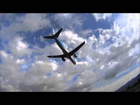 Plane landing & taking off over me, Airport Ohrid, Macedonia