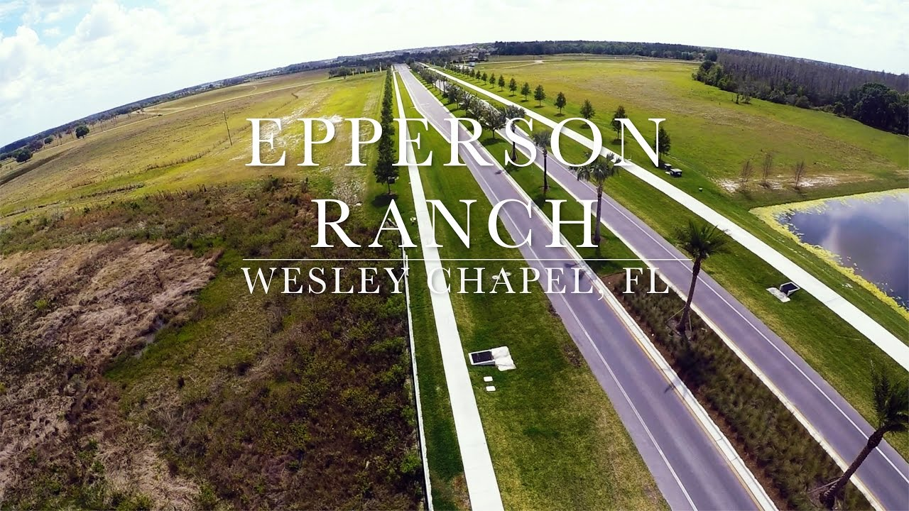 Drone over crystal lagoon epperson ranch wesley chapel for Epperson ranch homes