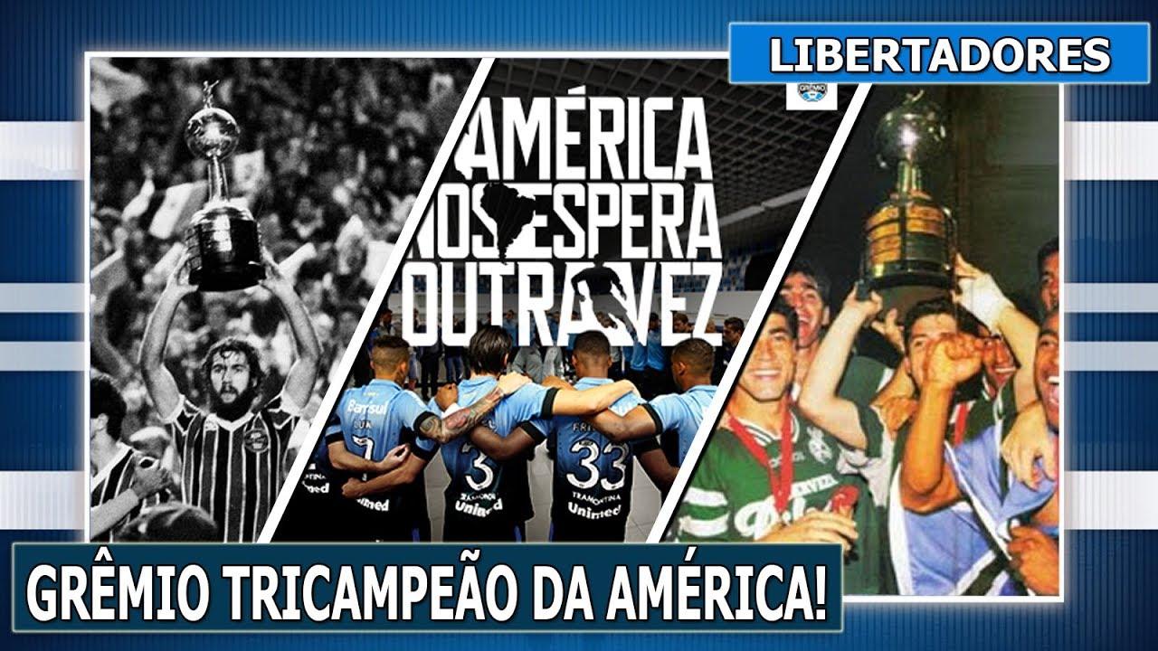 ESPECIAL - GRÊMIO TRICAMPEÃO DA LIBERTADORES! - YouTube 75dadb9afef0a