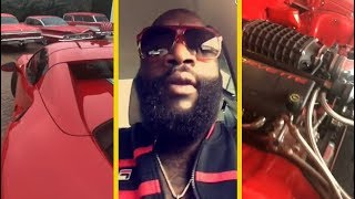 Rick Ross Shows Off Some Of His Cars!