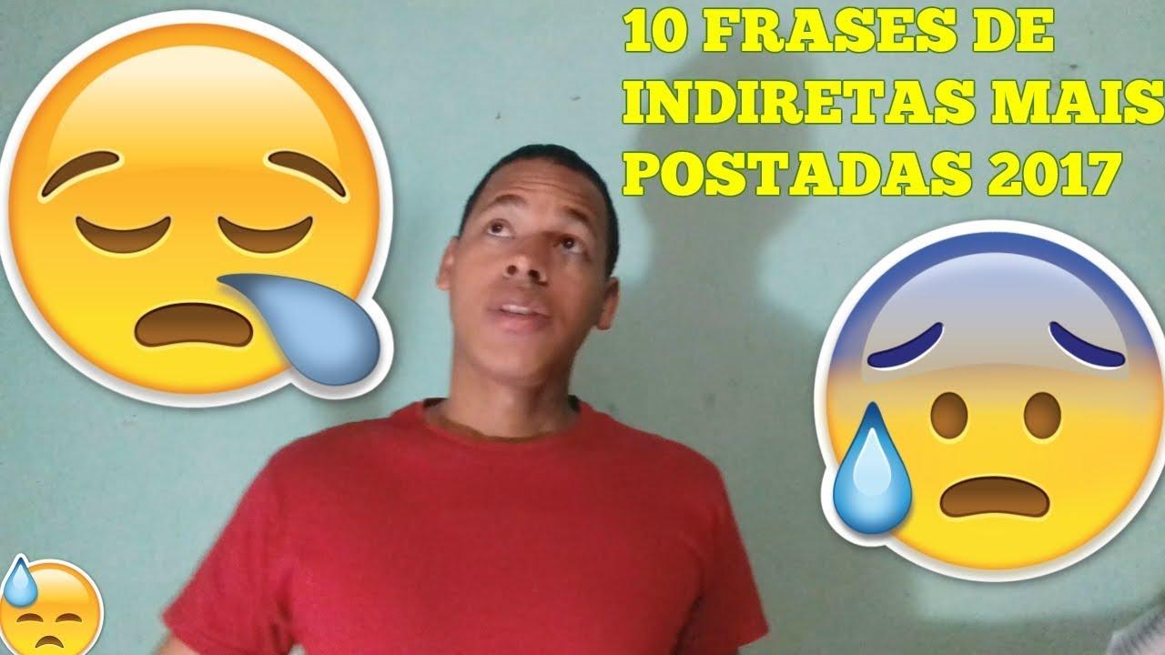 10 FRASES DE INDIRETA MAIS POSTADAS NO STATUS DO FACEBOOK