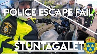 STUNTA GALET | POLICE ESCAPE FAIL (Swedish)