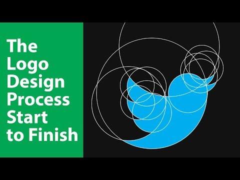 The Logo Design Process Start to Finish in Illustrator in Hindi | Twitter Logo Design thumbnail