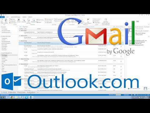Outlook 2013, 2010: Gmail einrichten Tutorial [HD, Deutsch, German]