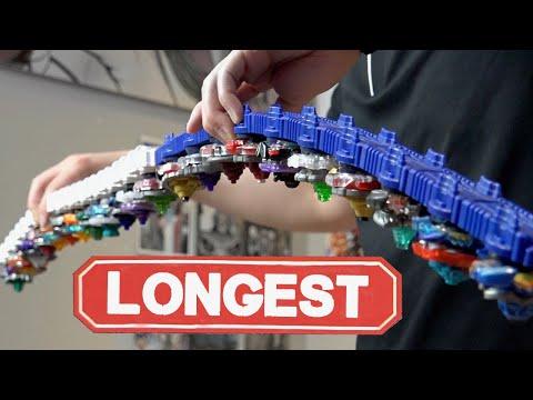 LONGEST BEYBLADE LAUNCHER!  Epic Beyblade Burst Customization