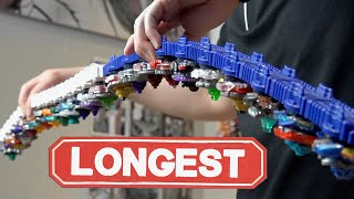 LONGEST BEYBLADE LAUNCHER! - Epic Beyblade Burst Customization