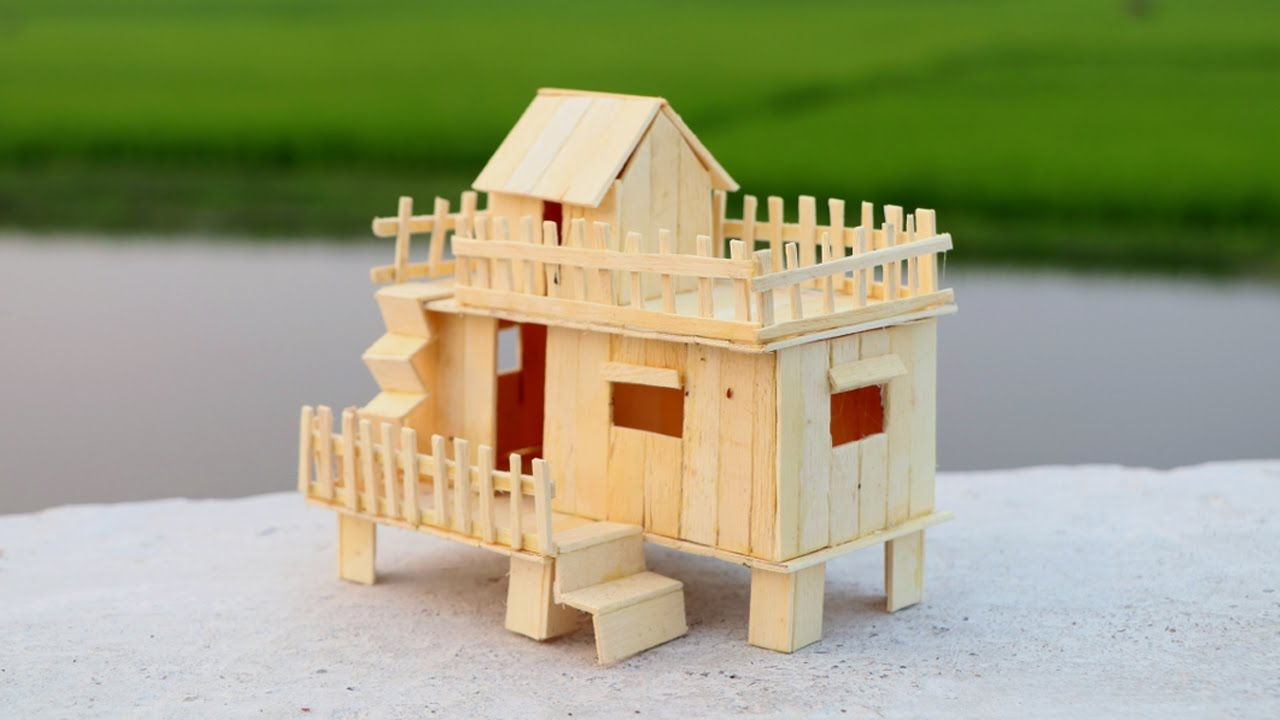 how to make a popsicle stick house for baby doll - youtube
