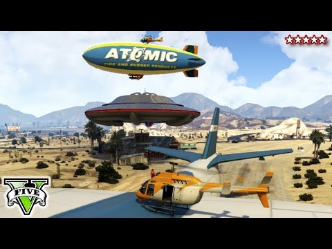 GTA 5 UFO! CargoPlane! Blimps! RARE SANDBOX! - GTA Online Funny Moments