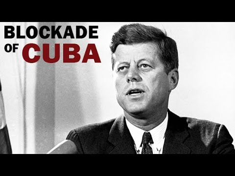 Kennedy Announces Blockade of Cuba During the Missile Crisis | 1962 | Cold War Era Newsreel