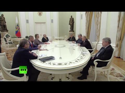 Путин встречается с кандидатами в президенты России