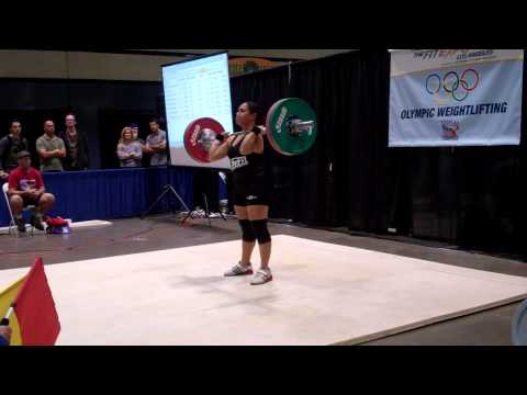 American Record Makers Evelyn Hernandez 90 kg jerk