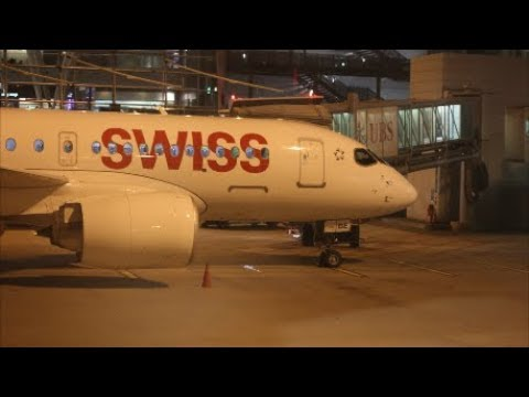 A video report about the night flight from Zurich to Moscow by Swiss.  Aviation.