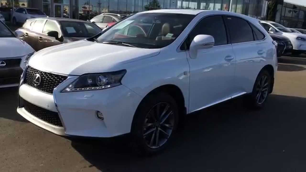 New Ultra White On Cabernet 2015 Lexus RX 350 AWD F Sport