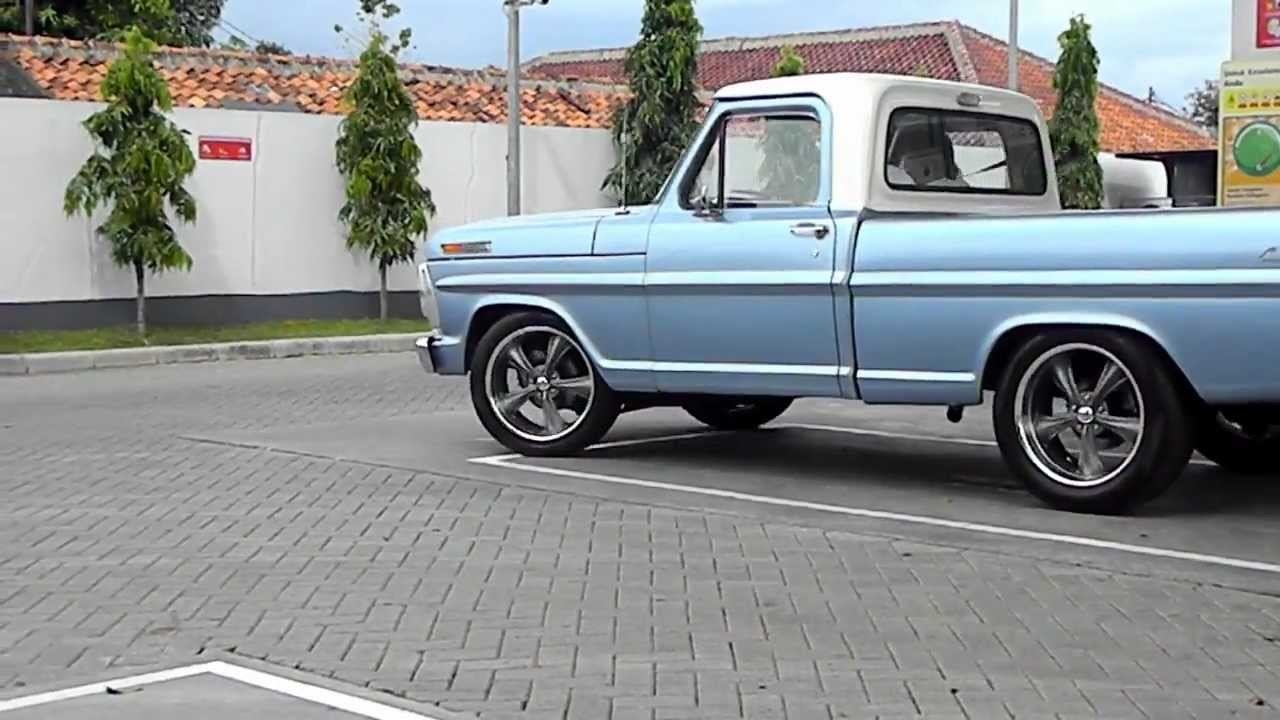 1970 Ford F100 newly restored_First burn-out - YouTube