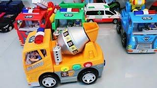 Машинки. Бетономешалка. Развлекающие и развивающие видео обзоры детских игрушек