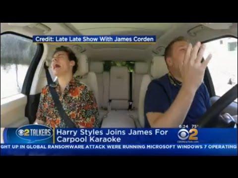 Harry Styles Joins James For Carpool Karaoke