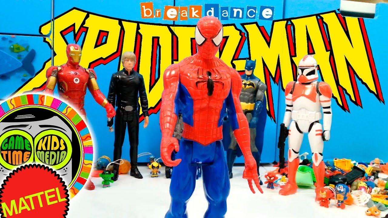 Kids Toys Action Figure: SpiderMan Y Iron Man, BATALLA BREAK DANCE De SUPERHEROES