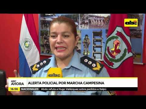 Alerta Policial Por Marcha Campesina
