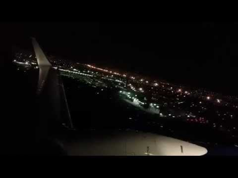 AeroMexico Night Takeoff From Mexico City