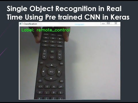 single Object recognition in Real-time using Pre-trained CNN in Keras
