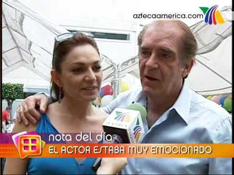 Fernando Luján celebra alegremente su cumpleaños