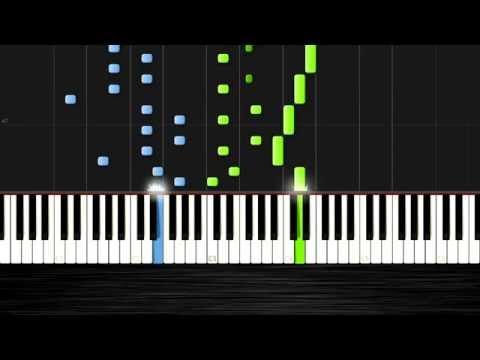 Ludovico Einaudi - Divenire - Piano Tutorial (50% Speed) by PlutaX - Synthesia