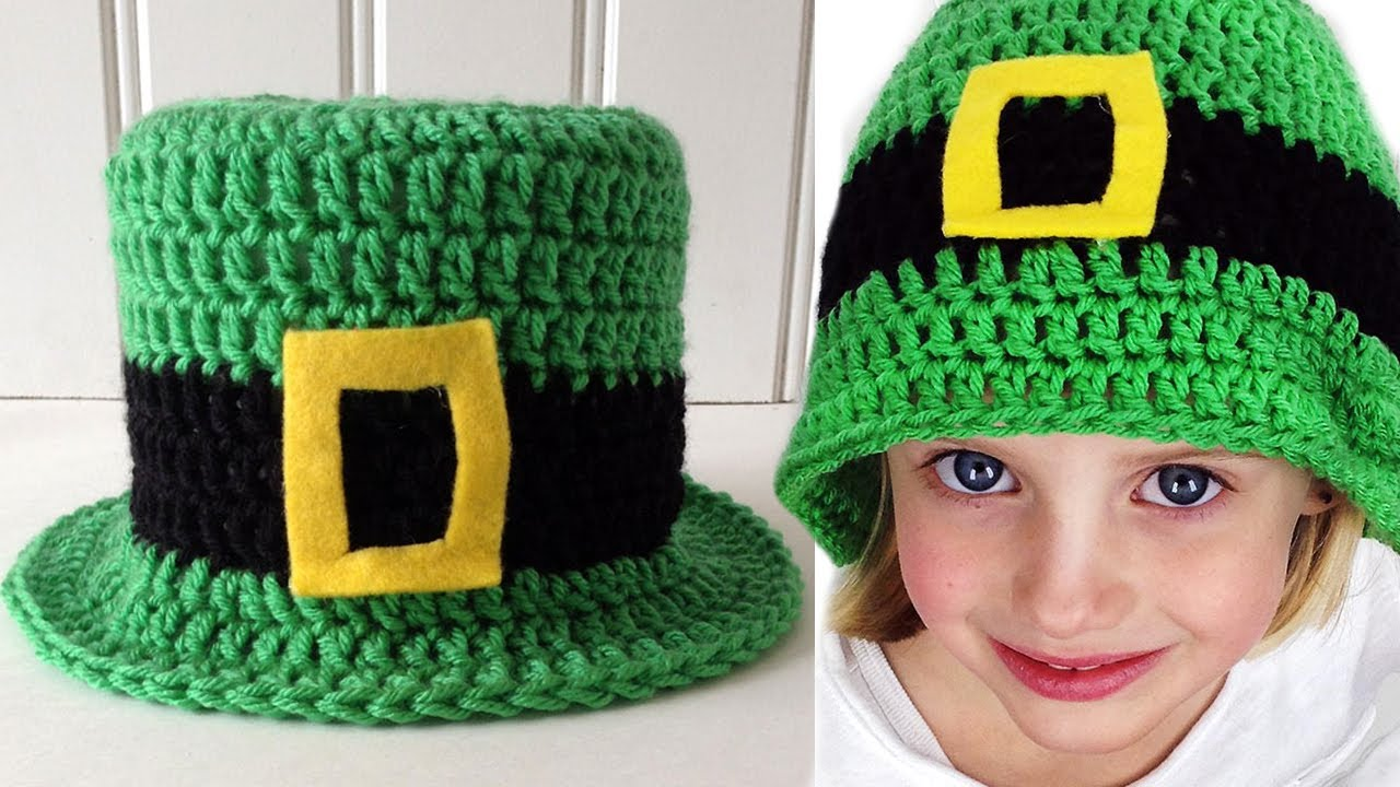 St Patrick s Day Hat Free Crochet Pattern - Left Handed - YouTube 52baa666430