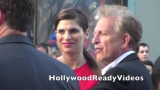 Lake Bell arrives at Disney's Million Dollar Arm premiere at El Capitan in Hollywood