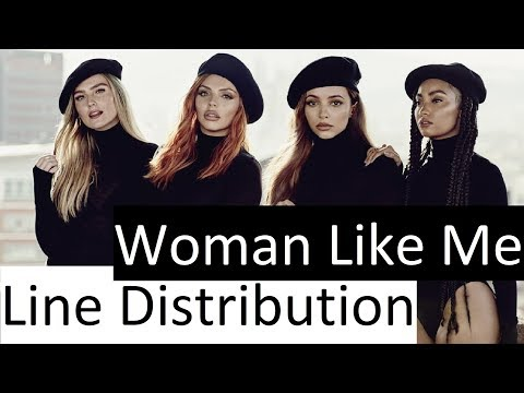 Little Mix ~ Woman Like Me ~ Line Distribution with Background Vocals counted