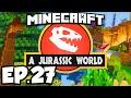 Jurassic World: Minecraft Modded Survival Ep.27 - HERBIVORE DINOSAUR FARM!!! (Rexxit Modpack)
