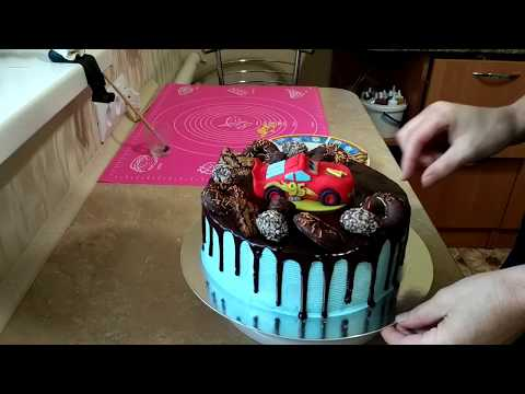 Торт мальчику на 6 лет своими руками фото без мастики