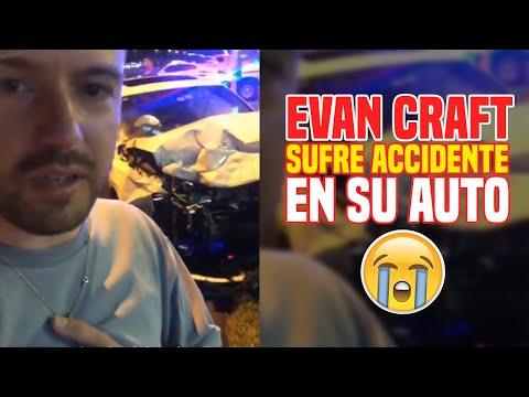 Evan Craft sufre aparatoso accidente automovilístico