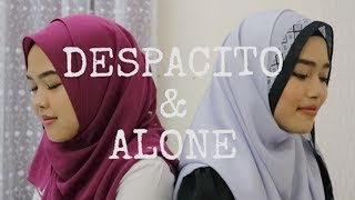 Video Despacito & Alone - Luis Fonsi, Daddy Yankee ft. Justin Bieber & Alan Walker (Sheryl & Eizaty cover) download MP3, 3GP, MP4, WEBM, AVI, FLV Oktober 2017