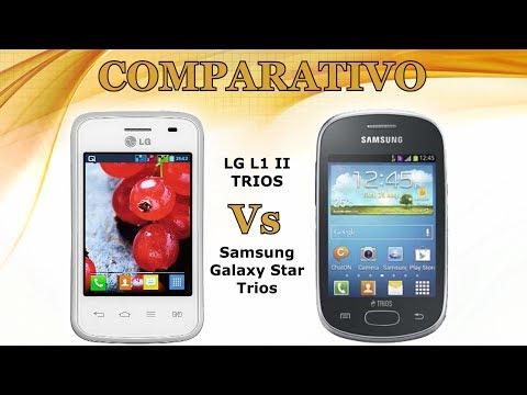Comparativo: LG L1 II Trios Vs Samsung Galaxy Star Trios ( celular10 )