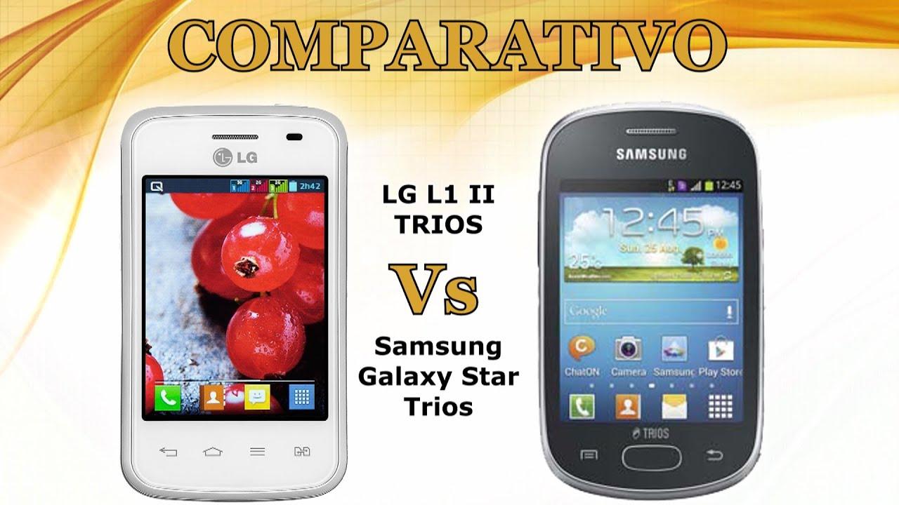 Comparativo: LG L1 II Trios Vs Samsung Galaxy Star Trios ...